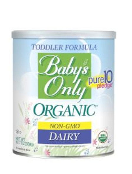 Toddler Formula Baby's Only Organic® Unflavored 360 Gram Can Powder, CS/6