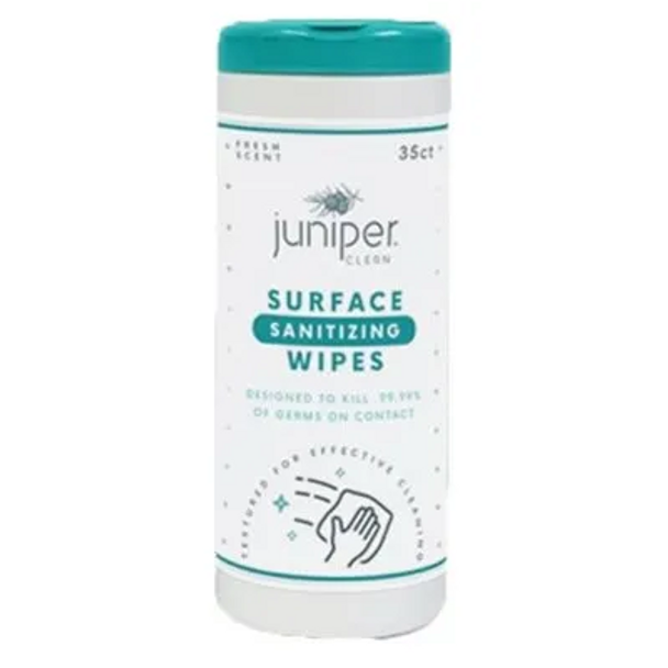 Skip to the end of the images gallery Skip to the beginning of the images gallery Model # JC-SSW-35 Item # 270766      Share on Facebook     Share on Twitter     Share on Pinterest     Print  Juniper Clean Sanitizing Surface Wipes, 35-Ct.