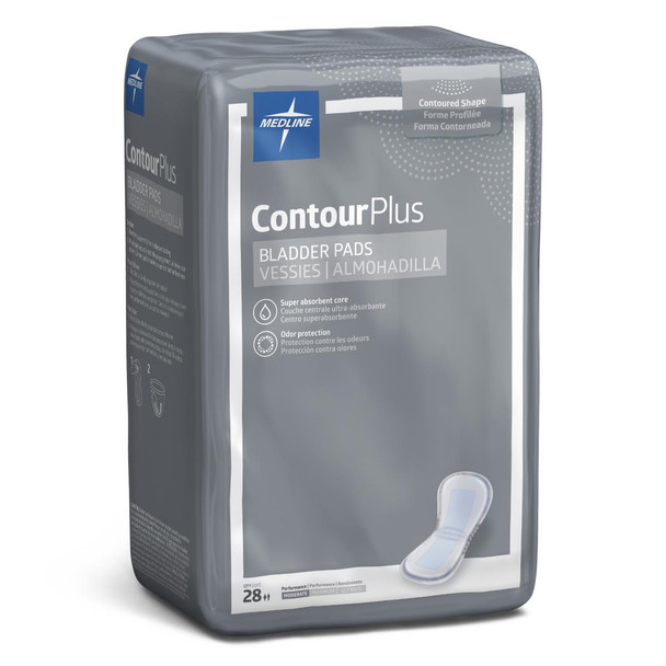 "ContourPlus Bladder Control Pads for Incontinence, Light, 5.5"" x 10.5"""