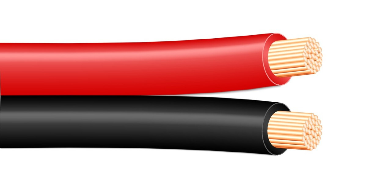 Power Cable, Red/Black Zip Cord
