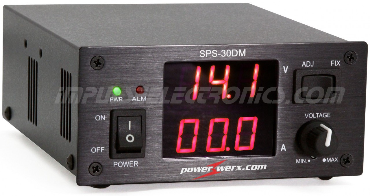 Powerwerx Variable 30 Amp Desktop Power Supply with Digital Meters