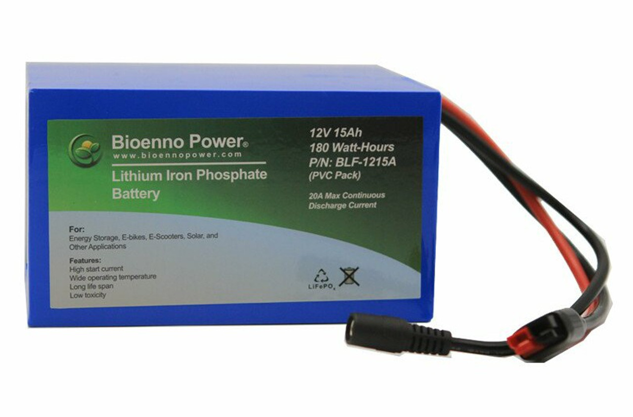 Bioenno Power 12 Volt, 15 Amp Hour Lithium Iron Phosphate Battery