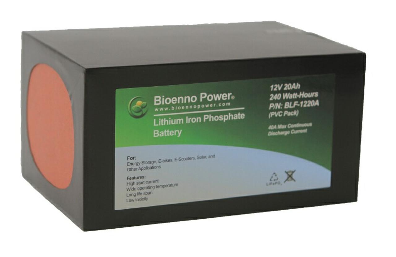 Bioenno Power 12 Volt, 20 Amp Hour Lithium Iron Phosphate Battery