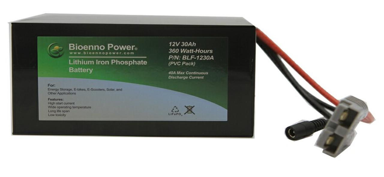 Bioenno Power 12 Volt, 30 Amp Hour Lithium Iron Phosphate Battery