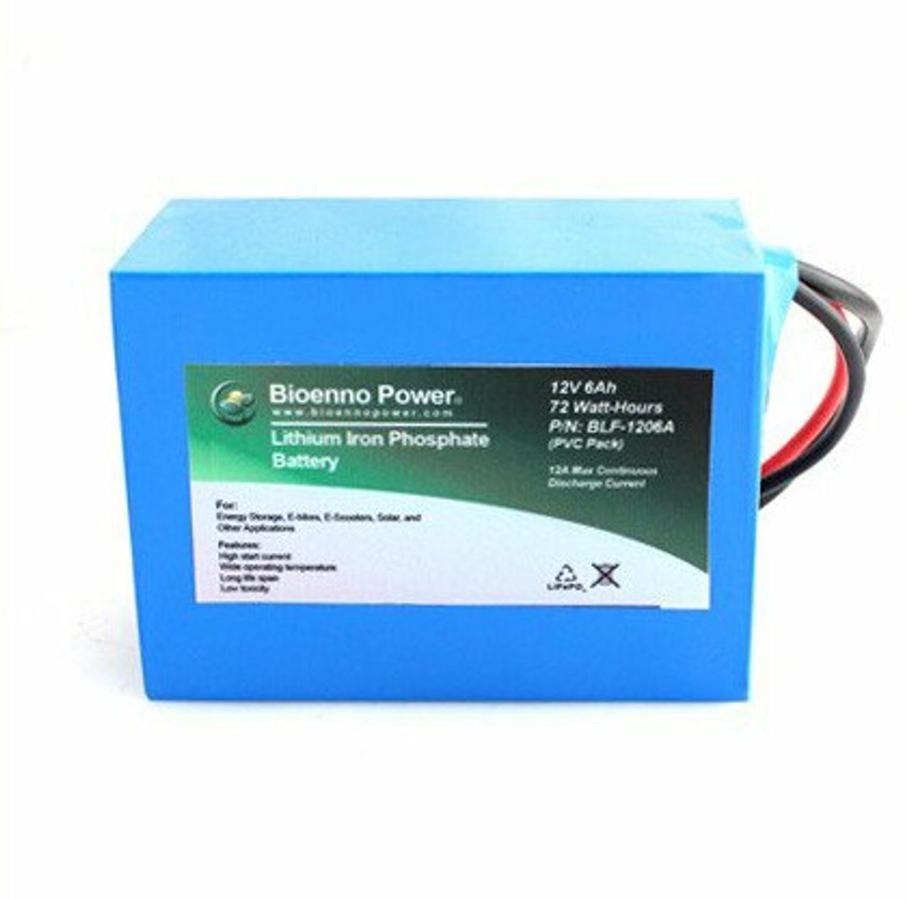 Bioenno Power 12 Volt, 6 Amp Hour Lithium Iron Phosphate Battery