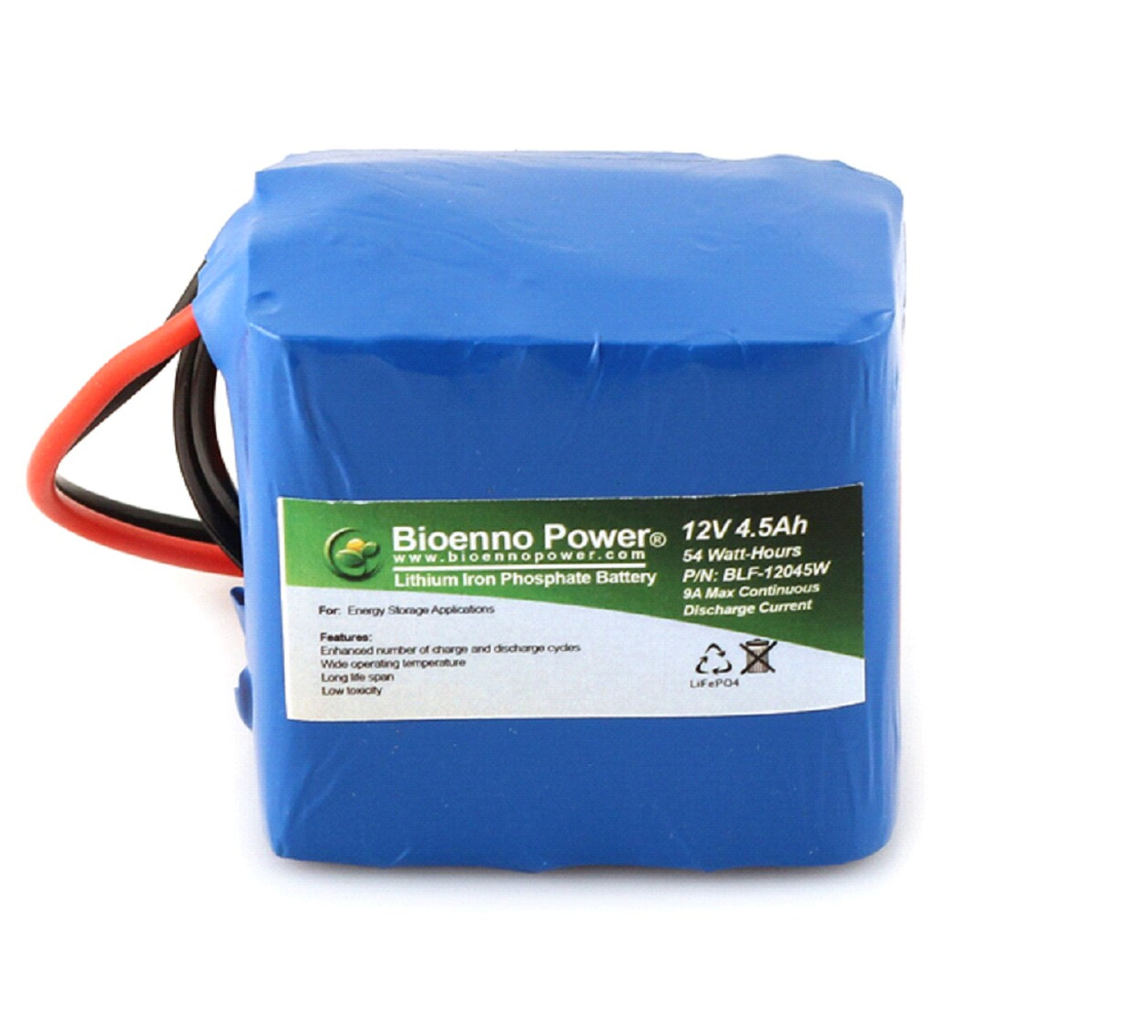 Bioenno Power 12 Volt, 4.5 Amp Hour Lithium Iron Phosphate Battery