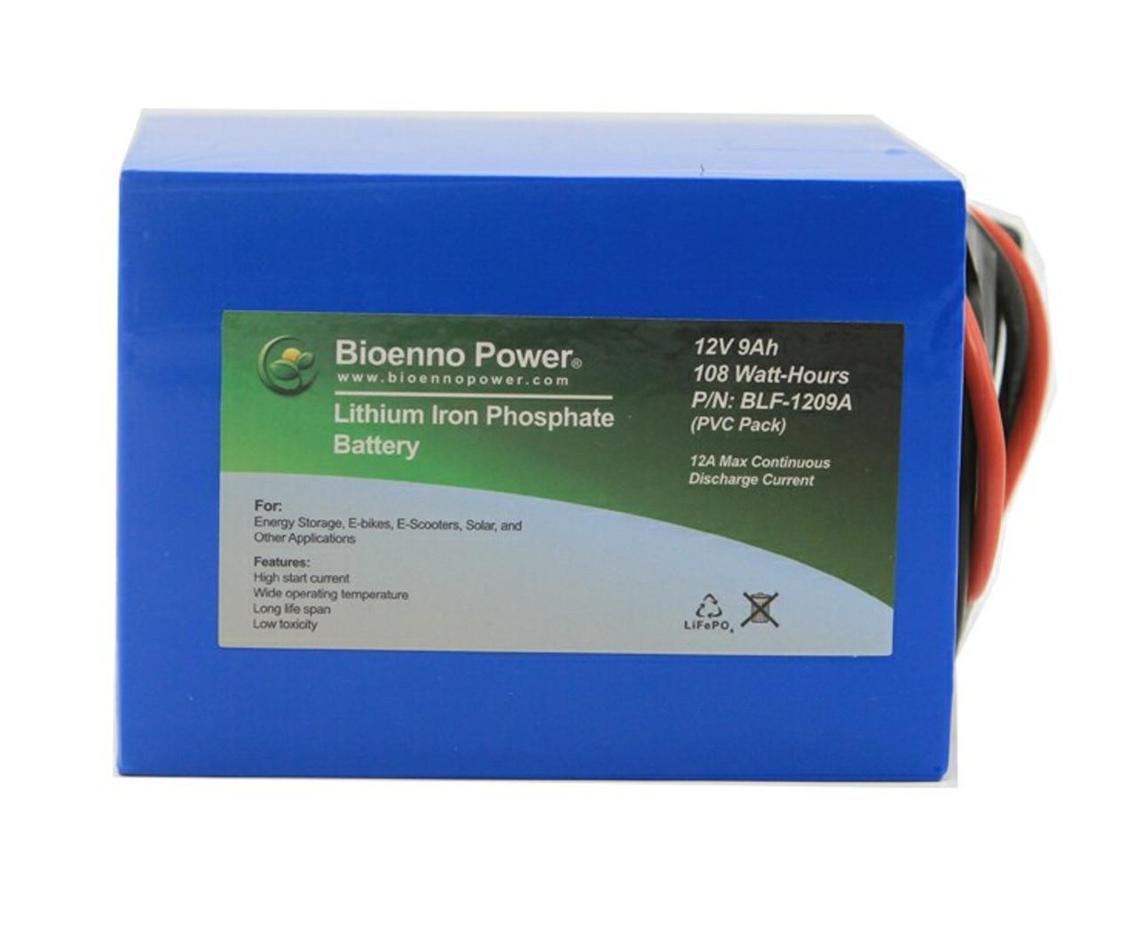 Bioenno Power 12 Volt, 9 Amp Hour Lithium Iron Phosphate Battery