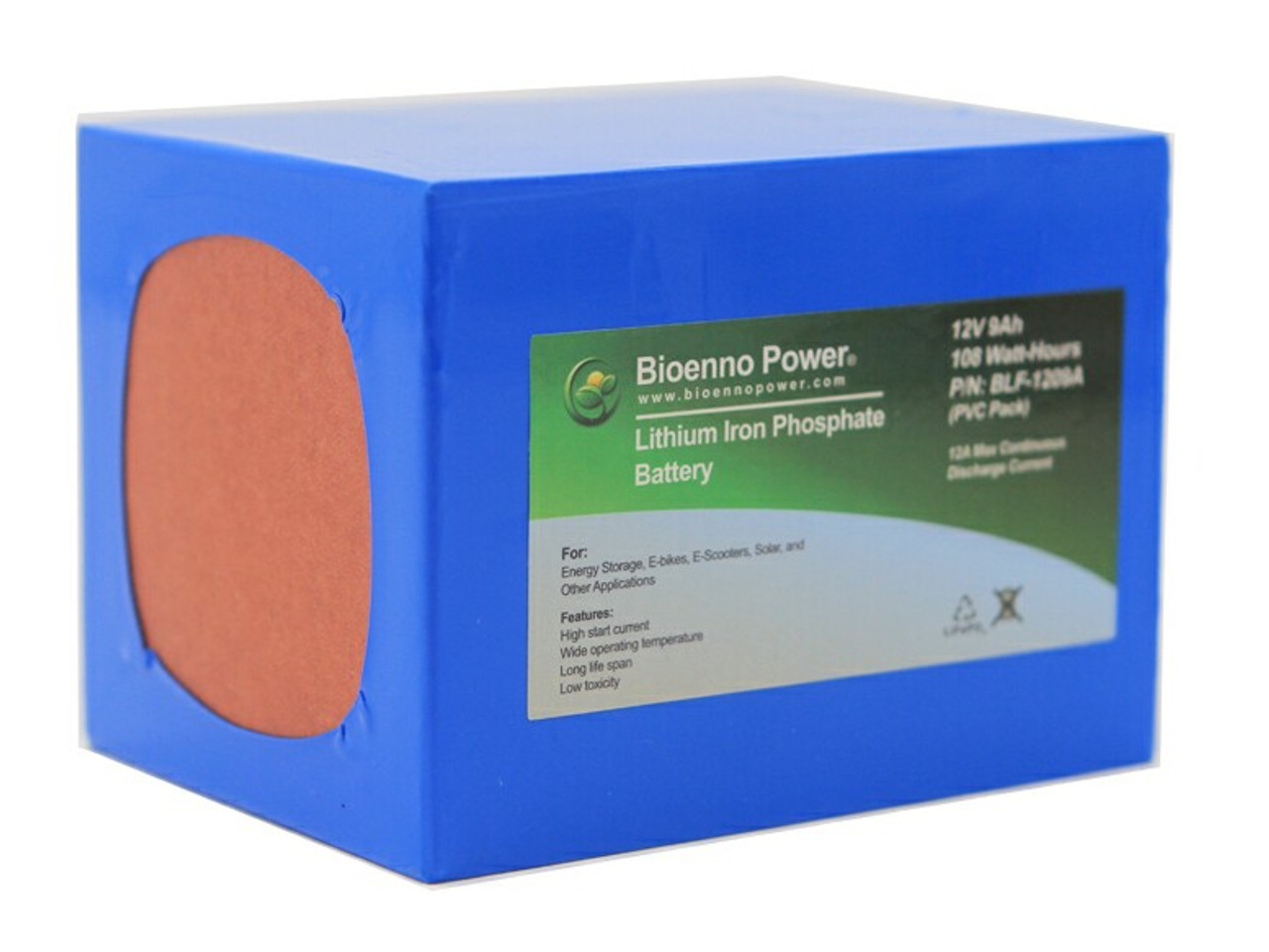 Bioenno Power 12 Volt, 9 Amp Hour Lithium Iron Phosphate Battery