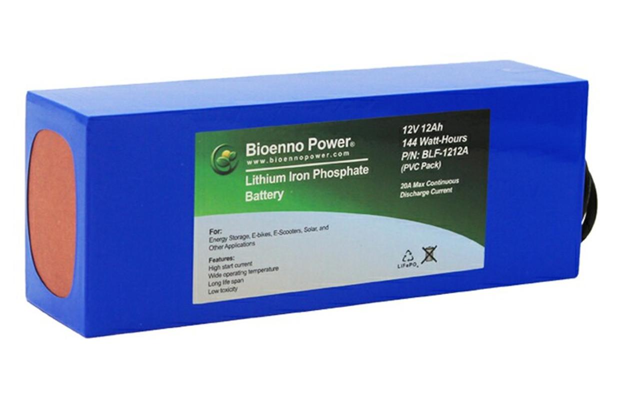 Bioenno Power 12 Volt, 12 Amp Hour Lithium Iron Phosphate Battery