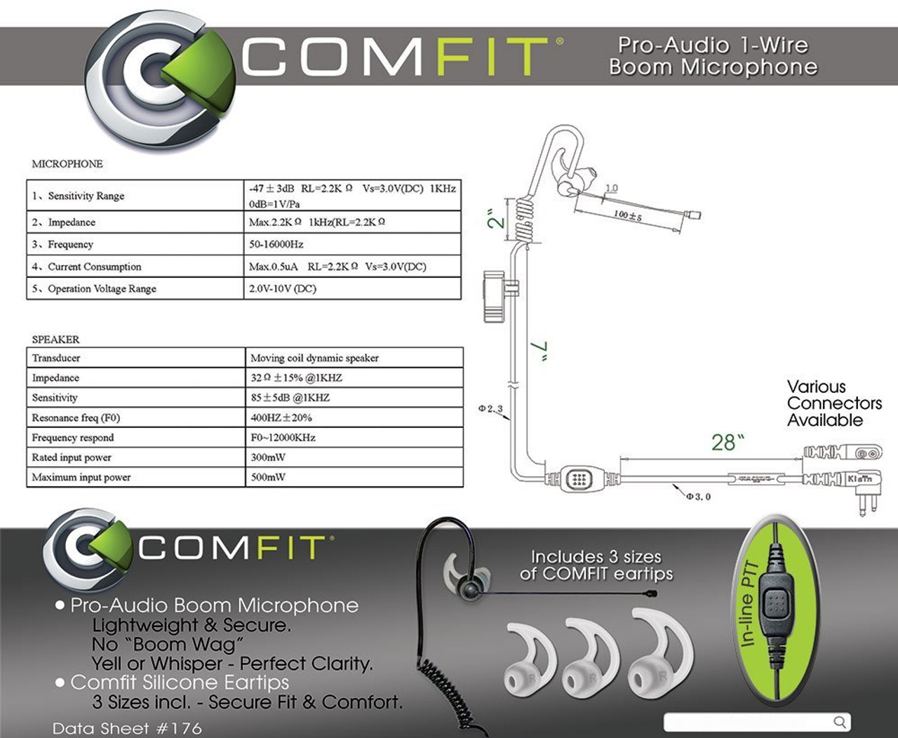 COMFIT Pro-Audio 1-Wire Boom Microphone