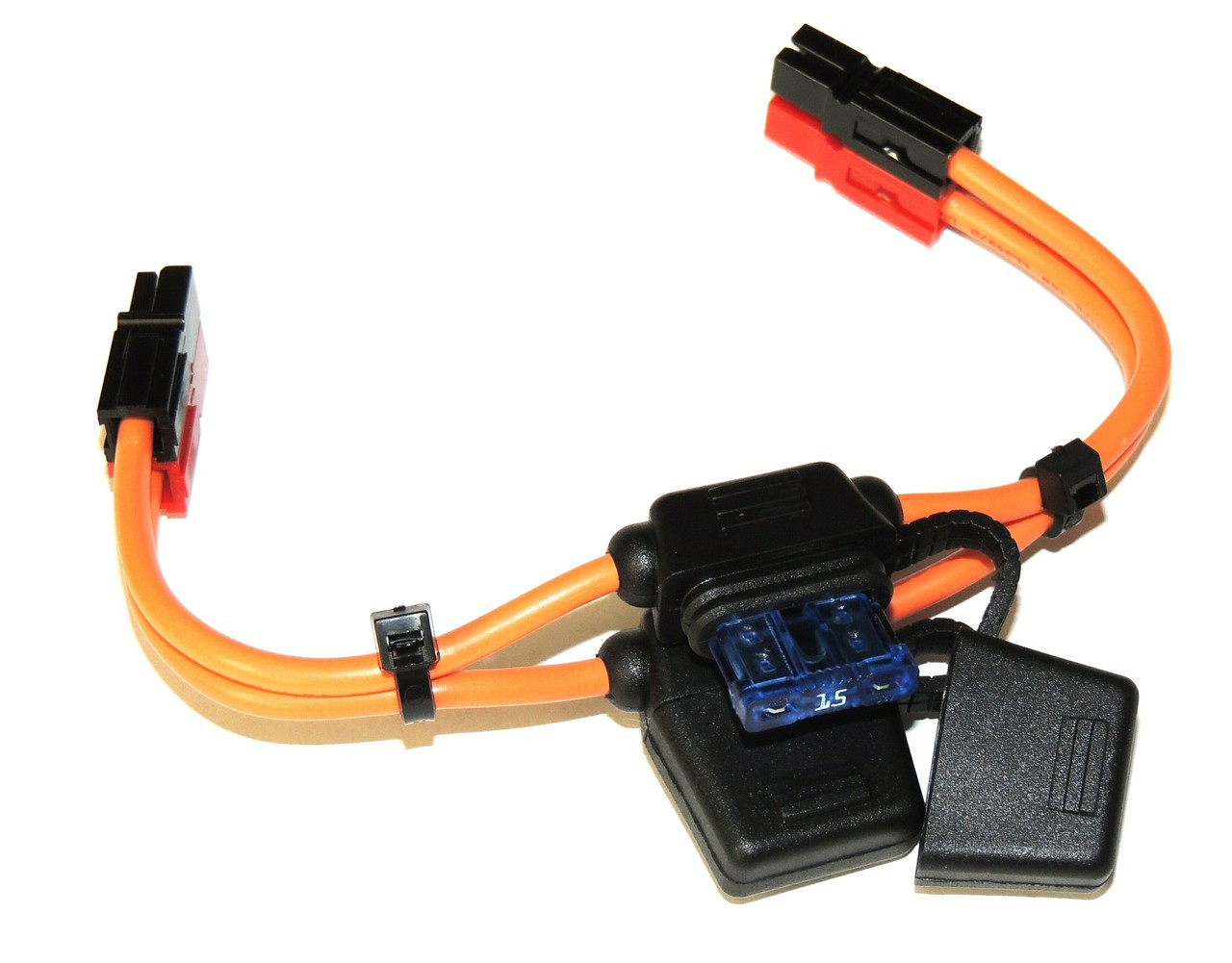 Power Cable, Powerpole to Powerpole with fuse holders and Choice of fuses in both sides,12 GA.