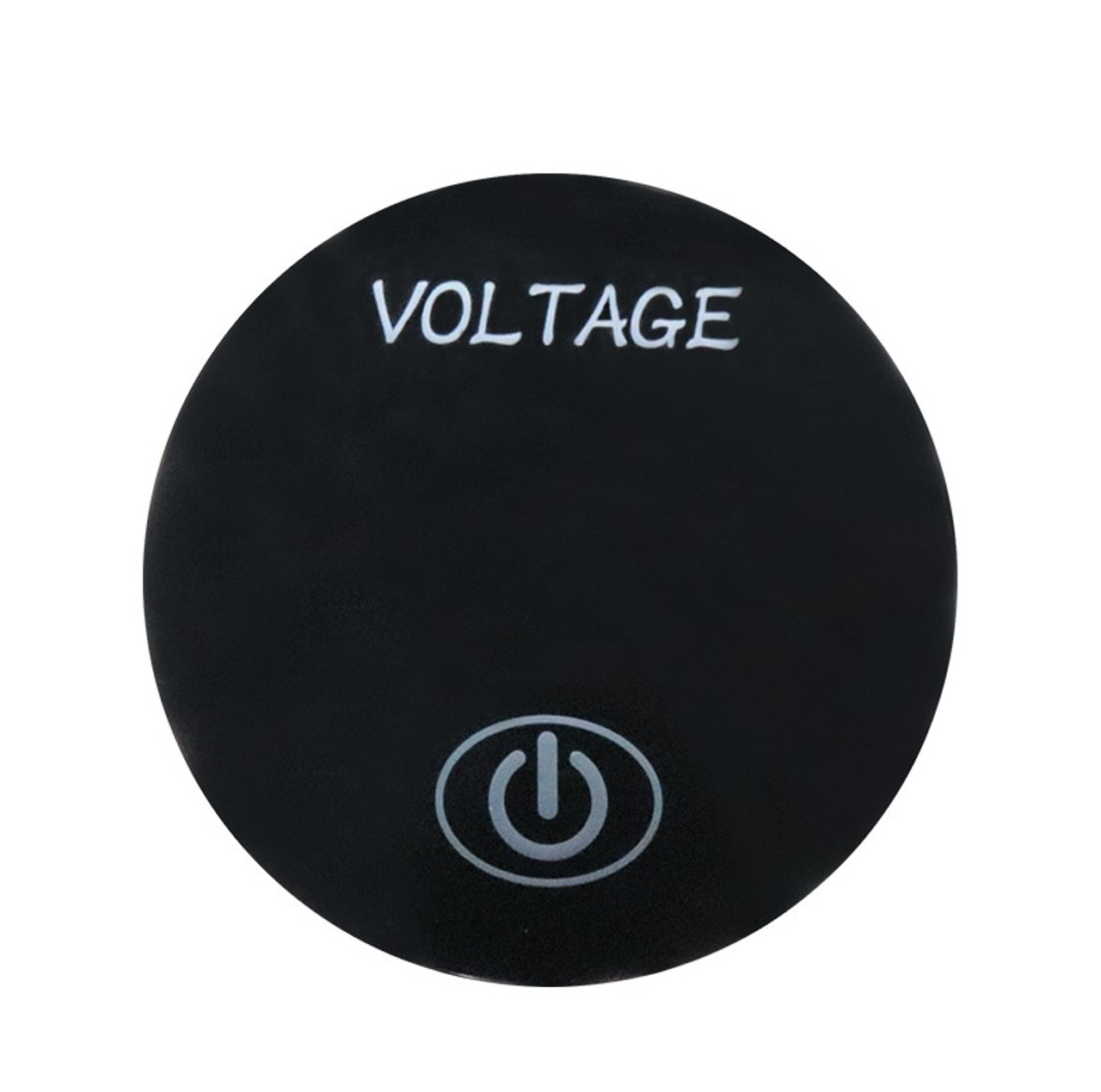 Panel Mount Digital Volt Meter with Touch Switch and % Display, Blue LED, 12 Volt, 10 A