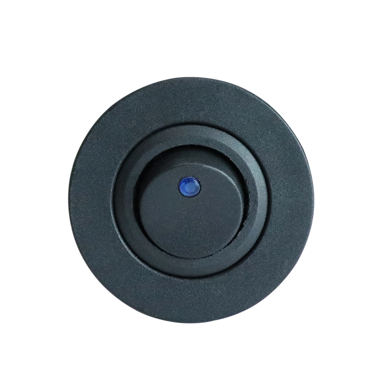 "Panel Mount SPST Switch with Blue Pilot Light, 1-1/8"" hole."