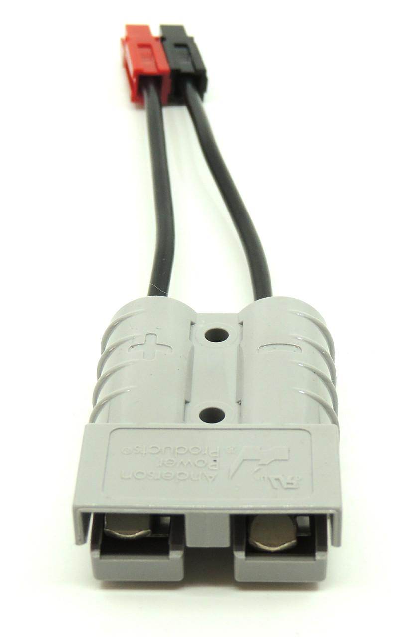 "Power Cable, Powerpole to Anderson SB50, 12 GA, Gray, 6"""