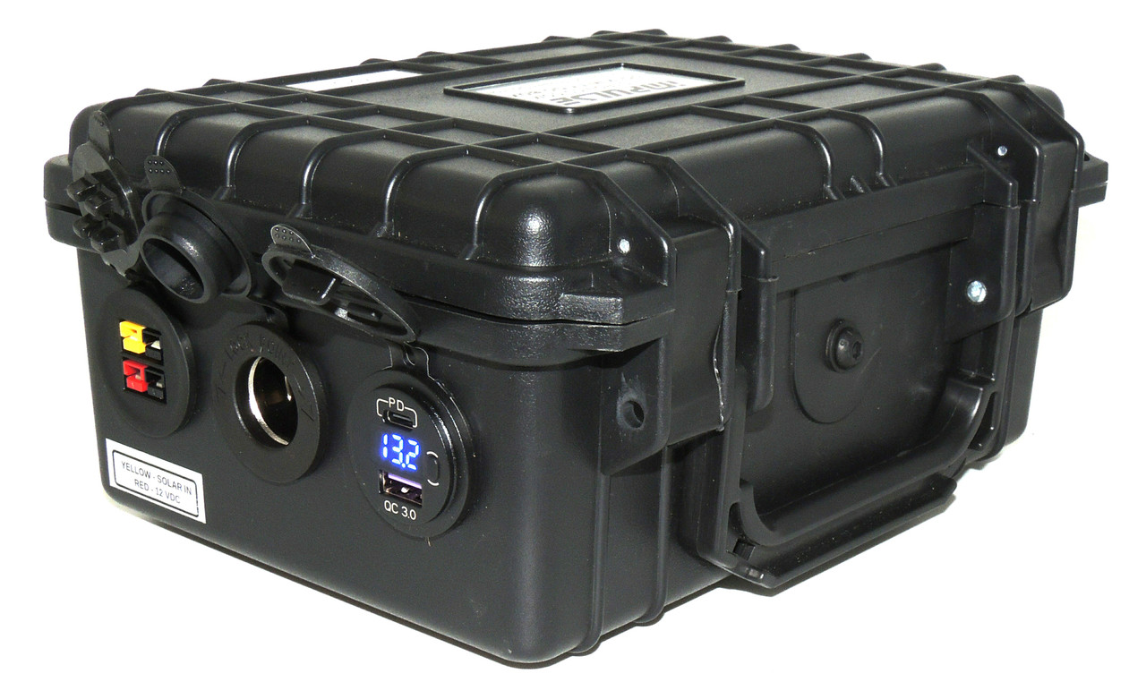DC12 MITY-T400 GO-BOX for LiFePO4 Battery, Charger & 150 W Solar Controller