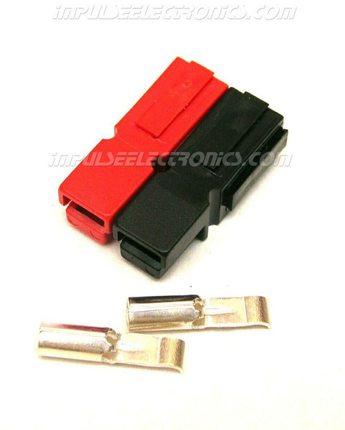 Powerpole Connector, 15 Amp Contacts, Red & Black Housings, Bonded
