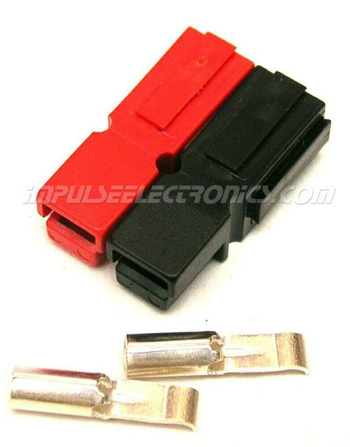 Powerpole Connector, 30 Amp Contacts, Red & Black Housings, Bonded