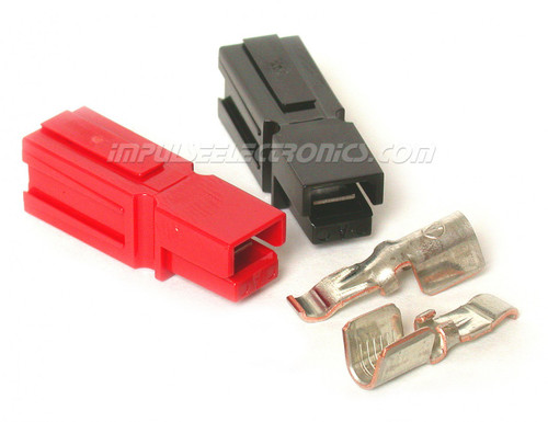 Powerpole Connector, 45 Amp Contacts, Red & Black Housings, Loose