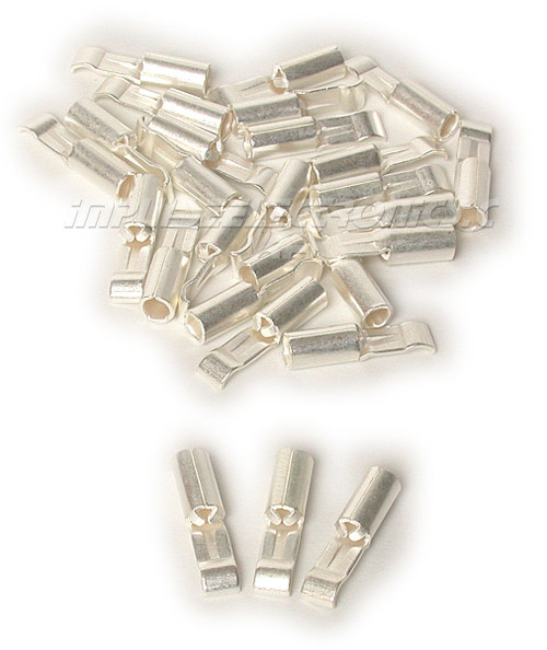 15 Amp Loose Piece Silver Plated Powerpole Silver Plated Contact, 25 Pak