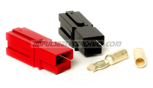 Powerpole Connector, 75 Amp Contacts, Red & Black Housings