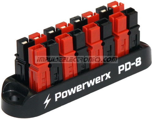 Powerpole Power Distribution Block, 8 Position, 15/30/45 Amp