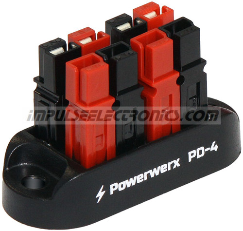 Powerpole Power Distribution Block, 4 Position, 15/30/45 Amp