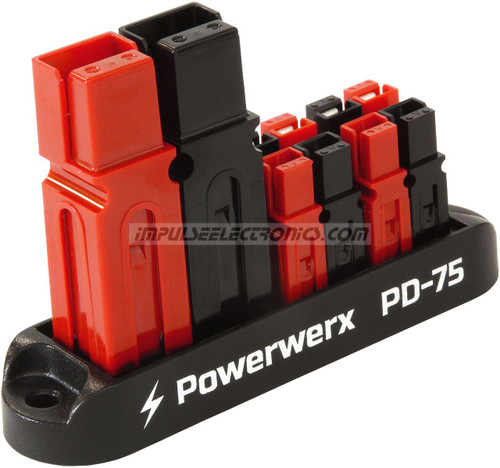 Powerpole Power Distribution Block, 75 Amp in, 4 Position, 15/30/45 Amp Out