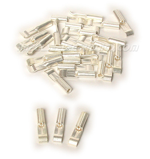 30 Amp Loose Piece Powerpole Silver Plated Contact, 100 Pak