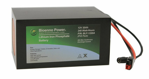 Bioenno Power 12 Volt, 20 Amp Hour Lithium Iron Phosphate Battery
