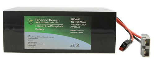 Bioenno Power 12 Volt, 40 Amp Hour Lithium Iron Phosphate Battery