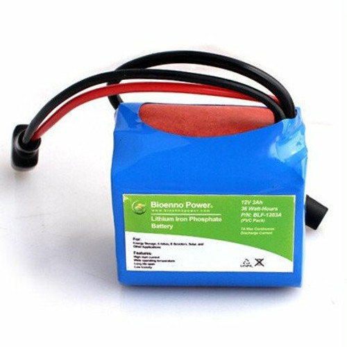 Bioenno Power 12 Volt, 3 Amp Hour Lithium Iron Phosphate Battery