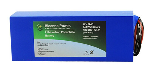 Bioenno Power 12 Volt, 12 Amp Hour Lithium Iron Phosphate Battery