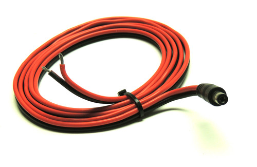 Power Cable, DC Plug 2.1 X 5.5 MM Open End, 18 GA, 5 ft.