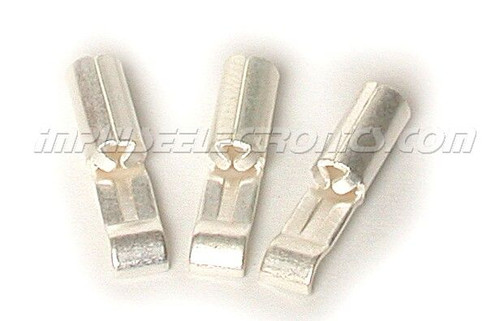 15 Amp Loose Piece Silver Plated Powerpole Silver Plated Contact, 50 Pak