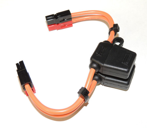 Power Cable, Powerpole to Powerpole with fuse holders and 30 Amp fuses in both sides,12 GA.