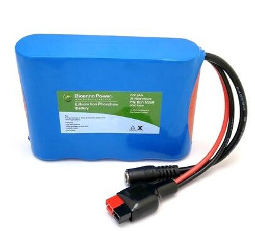 Bioenno Power 12 Volt, 3 Amp Hour Lithium Iron Phosphate Battery Low Profile