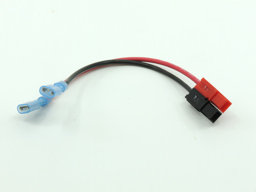 "Power Cable, Powerpole to 1/4"" Quick Connector 14 GA, 6"""
