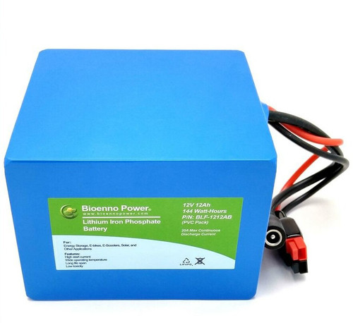 Bioenno Power 12 Volt, 12 Amp Hour Lithium Iron Phosphate Battery (AB)