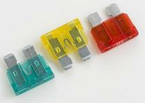 Fast Acting / Blade Mounting Standard size automotive blade fuse Electrical Specifications: 1 Amp through 40 Amps, 32 VDC
