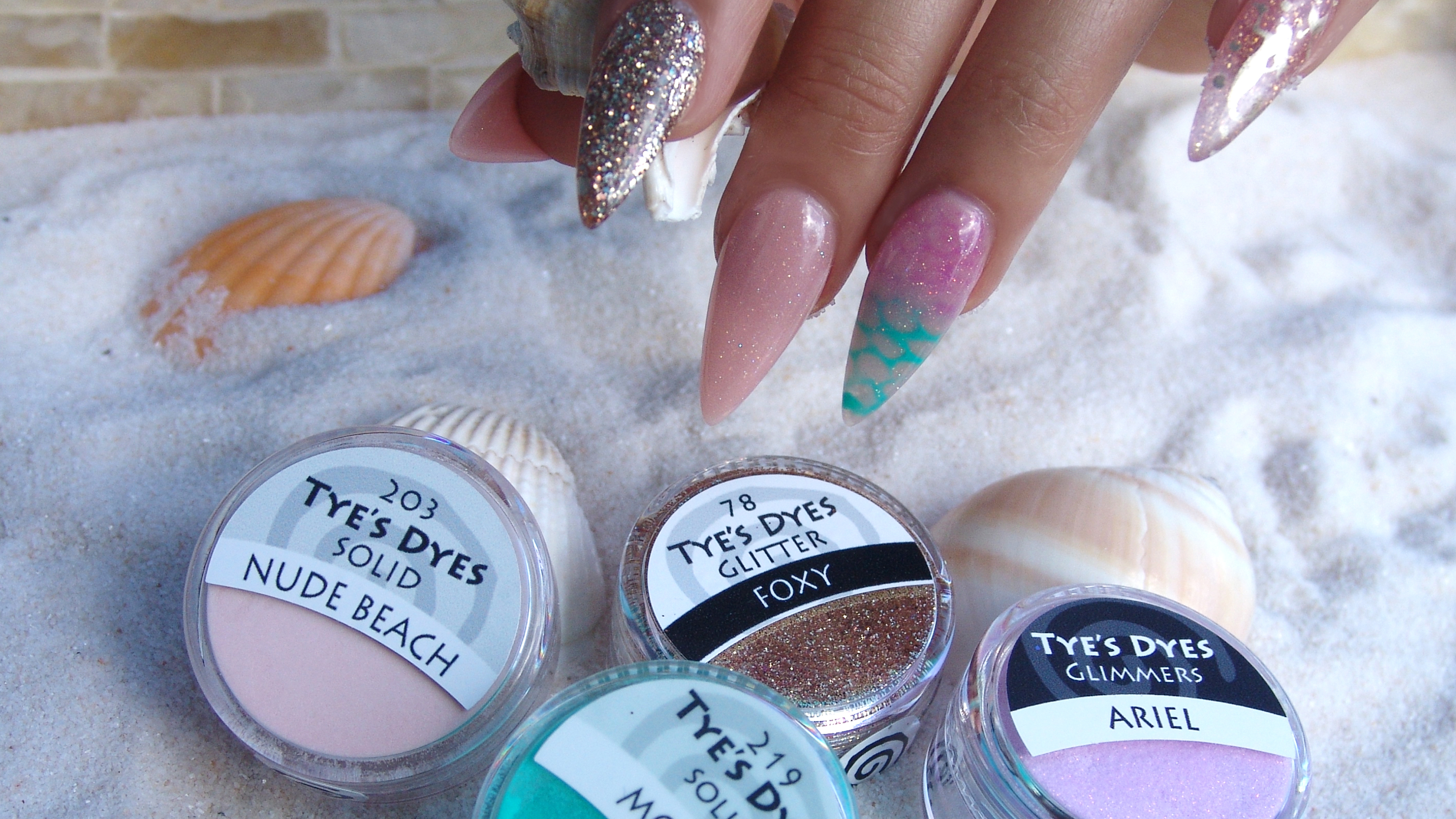 PREMIXED DESIGNER ACRYLIC NAIL MIXES / COLOR POWDERS WITH GLITTER ...