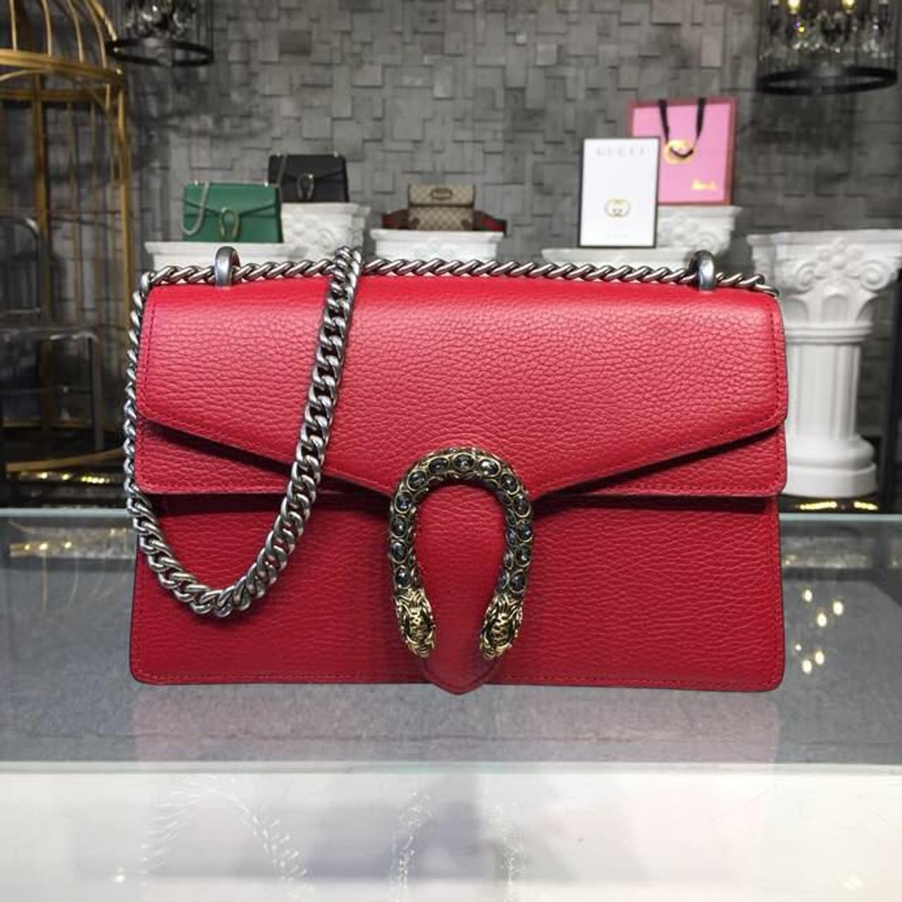 132e3cf08721 Gucci Dionysus Crystal Shoulder Bag 28cm 400249 Calfskin Leather  Spring Summer 2018 Collection