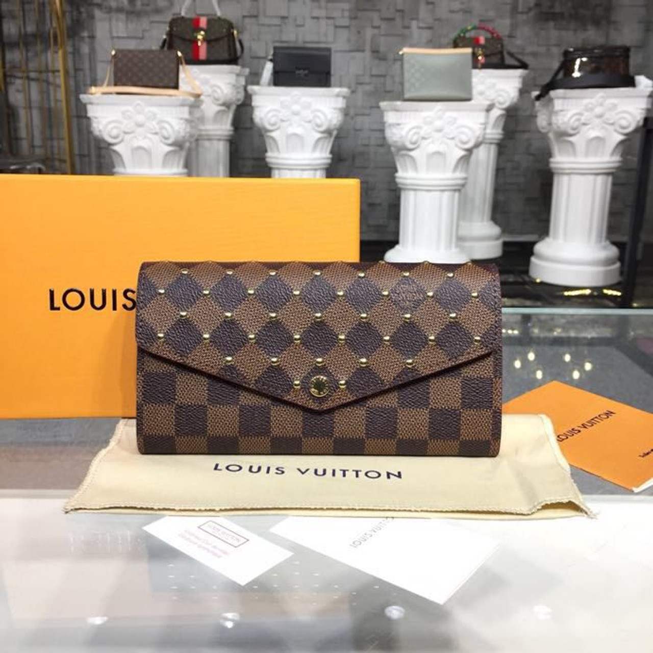 f08cdf5175ff Louis Vuitton Studded Sarah Wallet Monogram Canvas Fall Winter 2018  Collection M60531