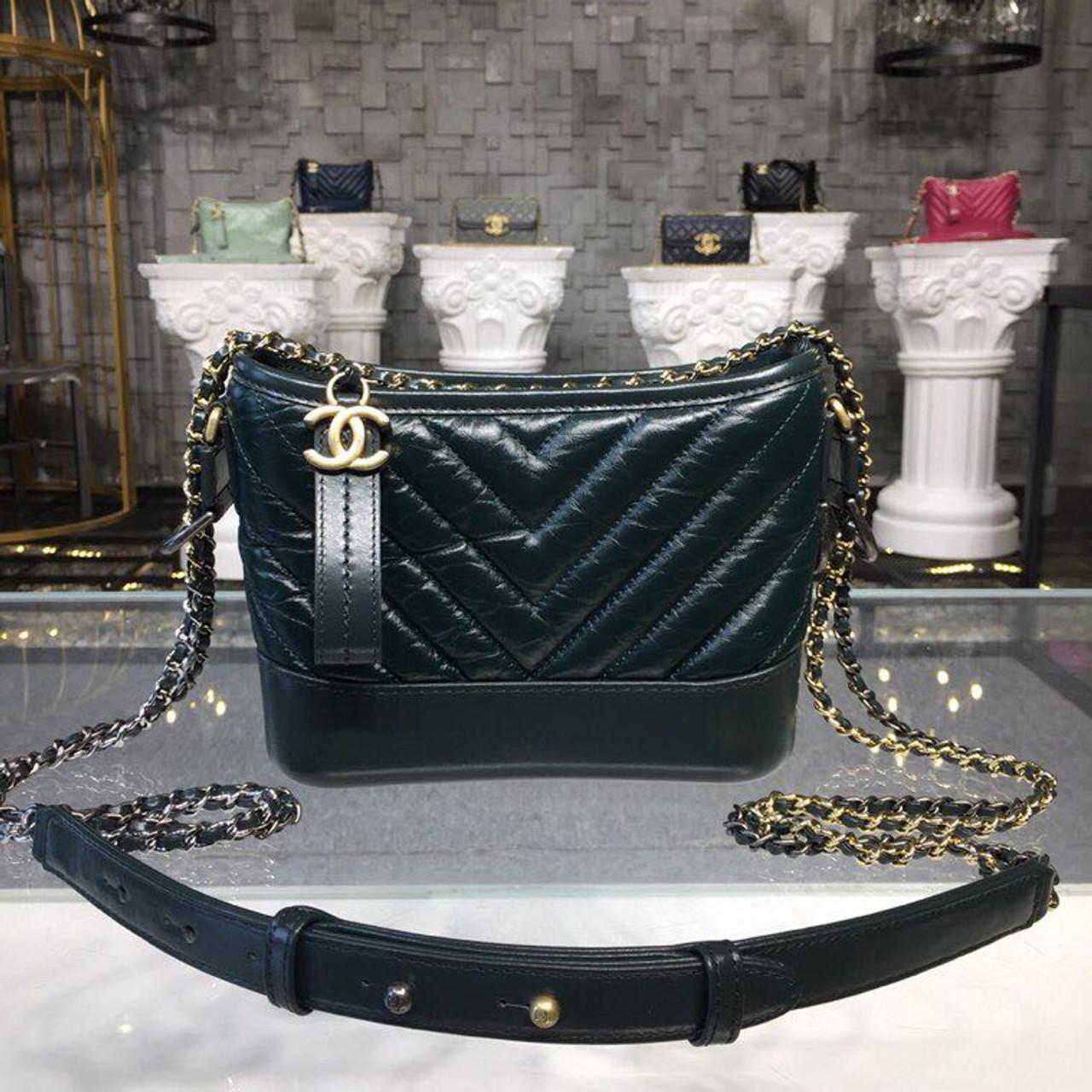 c97ffc8d72cf Chanel Gabrielle Chevron Hobo Bag Small 20cm Aged Calfskin Leather  Fall/Winter 2018 Act 1