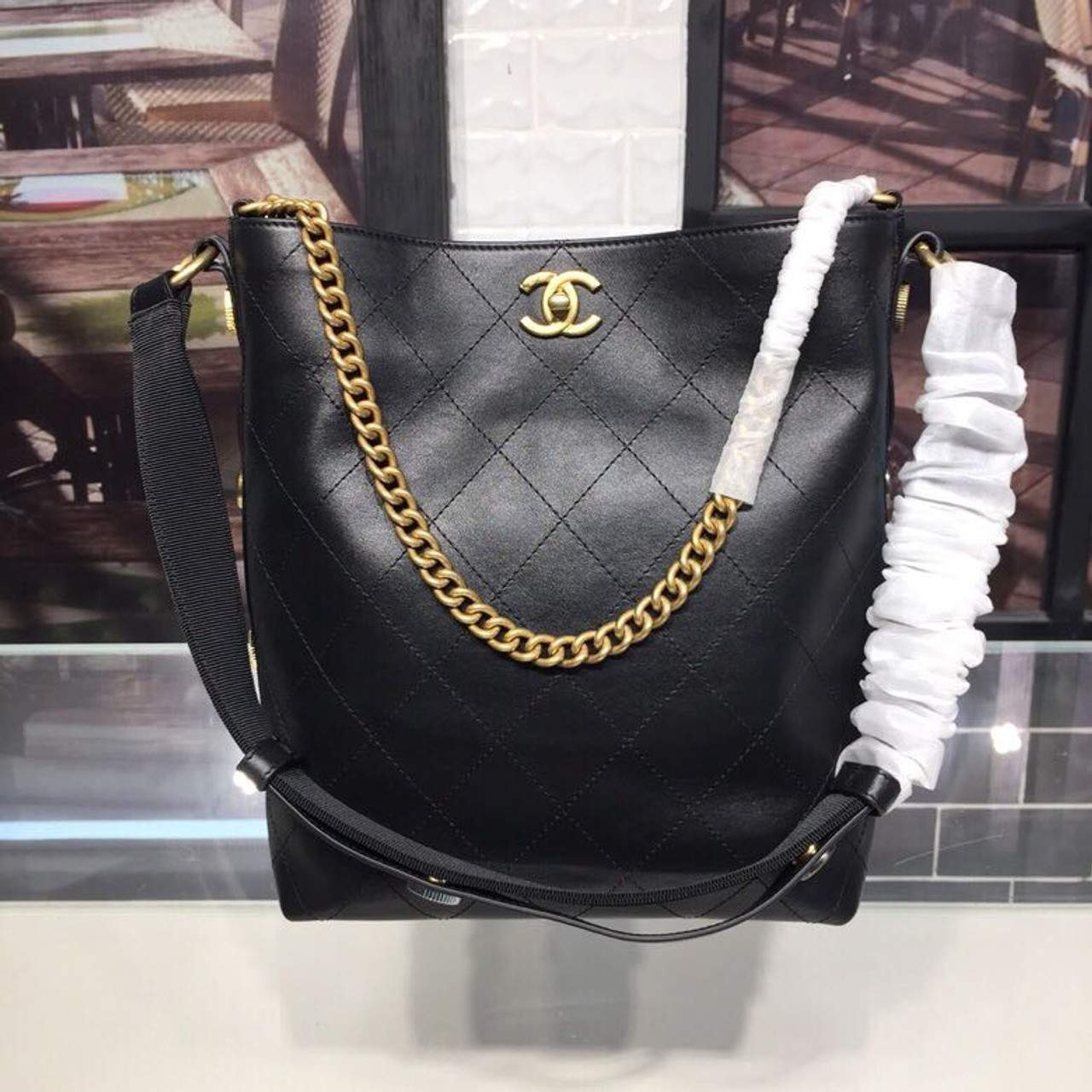 14ea35eb4b47 Chanel Button Up Hobo Bag 26cm Calfskin Leather Fall/Winter 2018 Act 1  Collection,