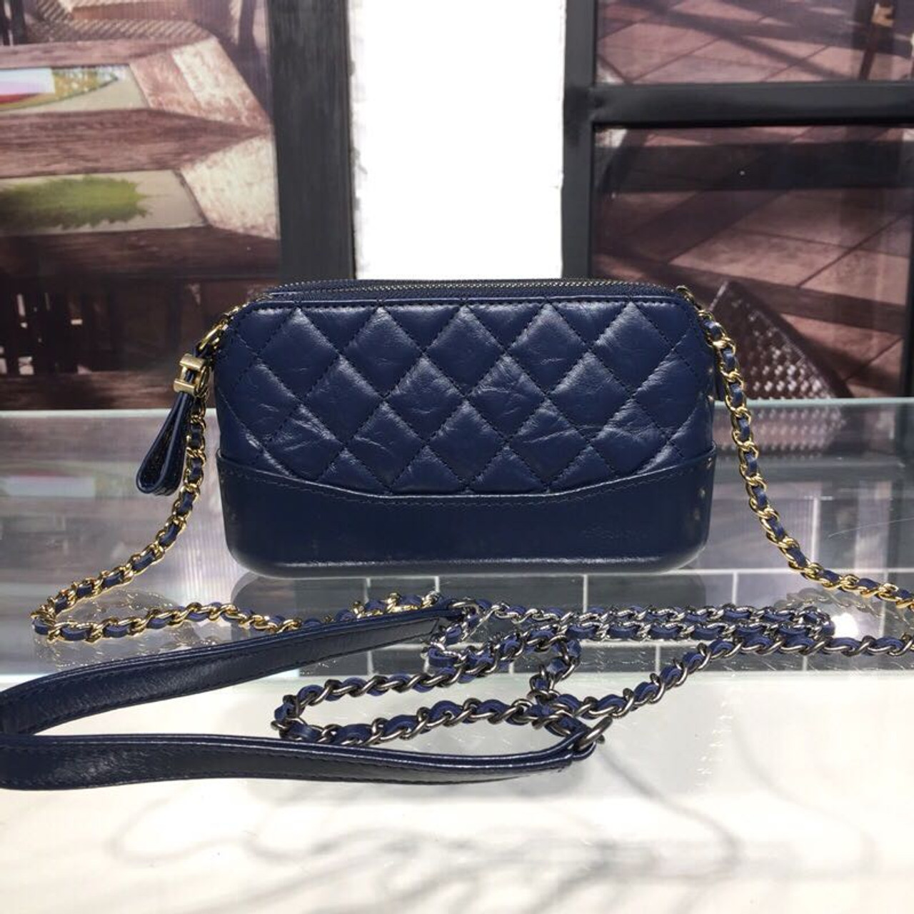 d4b40eff372b Gabrielle Mini Hobo Bag 18cm Gold Hardware Lambskin Leather Fall/Winter Act  1 2018 Collection