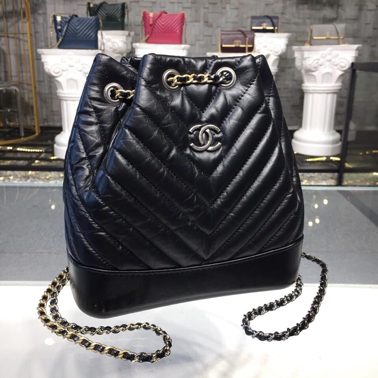 4d02a6106e4fa1 Chanel Gabrielle Chevron Backpack Bag Small 20cm Aged Calfskin Leather  Fall/Winter Act 1 2018