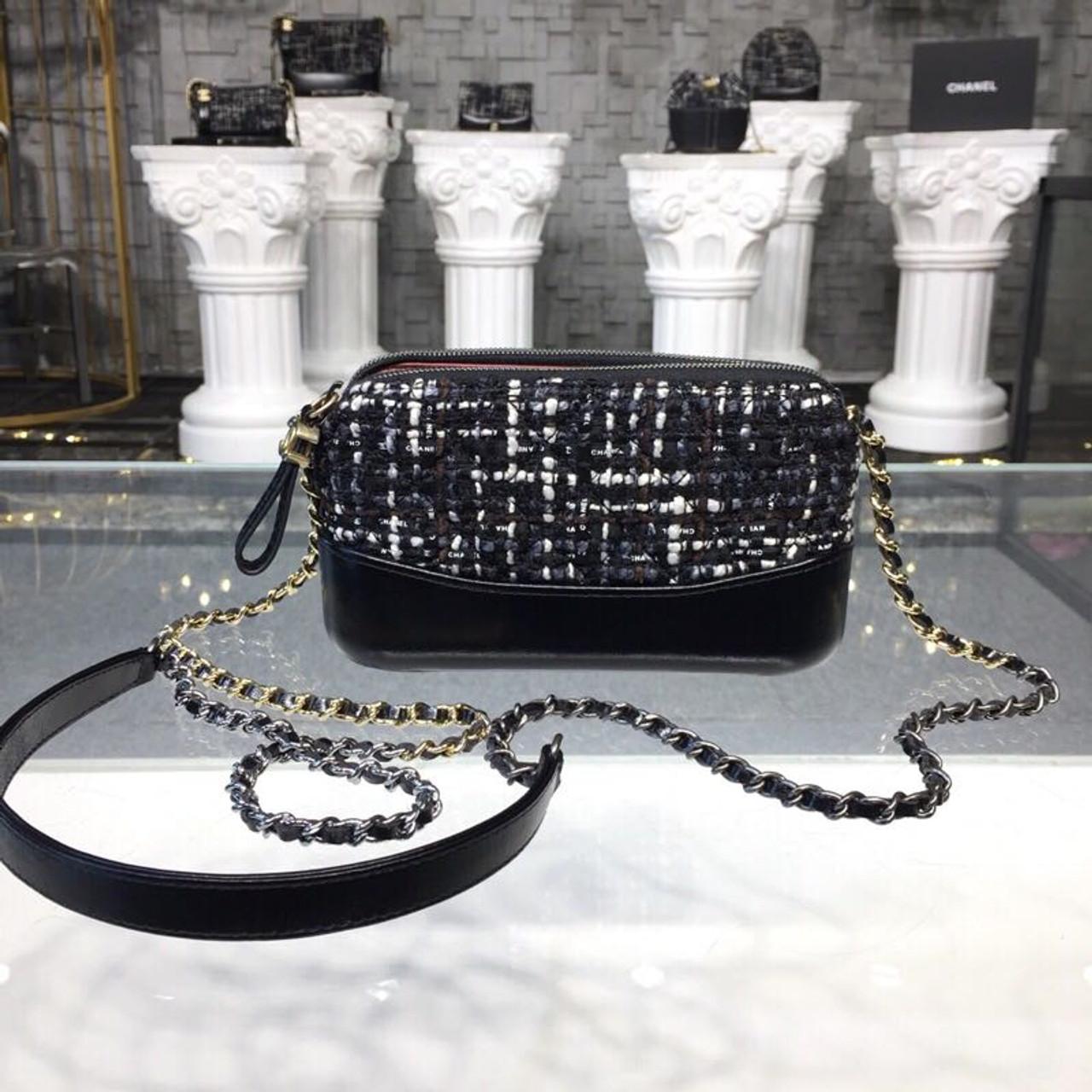 827fd38e619d2e Chanel Gabrielle Mini Hobo Bag 18cm Gold Hardware Tweed/Lambskin Leather  Fall/Winter Act