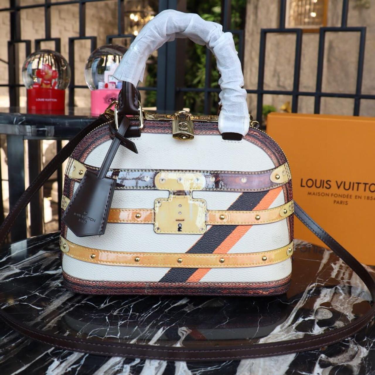 7d9f342ccc6 Louis Vuitton Alma BB Time Trunk Bag Monogram Vernis Canvas Spring Summer  2019 Collection M44389