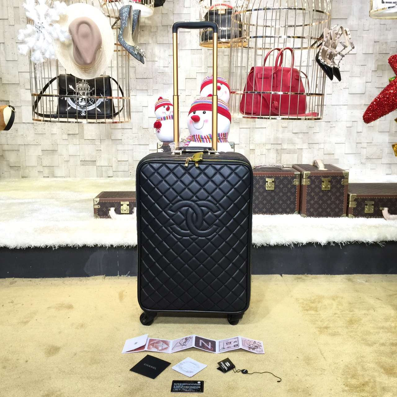 f26f6a3445cd Chanel Travel Trolley Rolling Luggage 50cm Lambskin Leather Gold Hardware  Spring/Summer 2019 Collection,