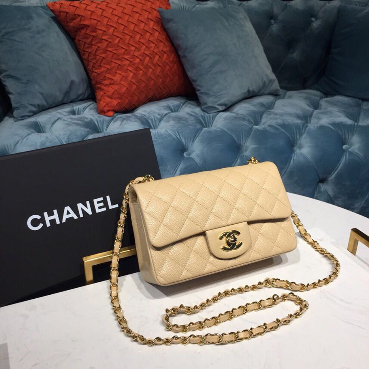 538f6b5d11af2 Chanel Classic Flap Bag 20cm Lambskin Leather Gold Hardware Spring/Summer  2019 Act 1 Collection